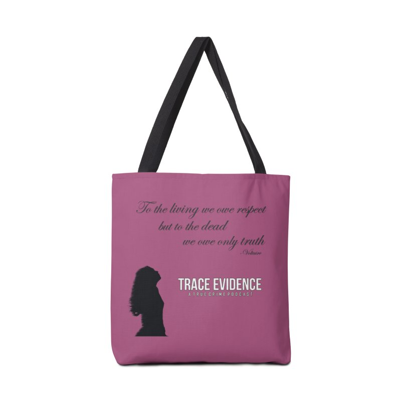 Voltaire Silhouette Accessories Bag by Trace Evidence - A True Crime Podcast