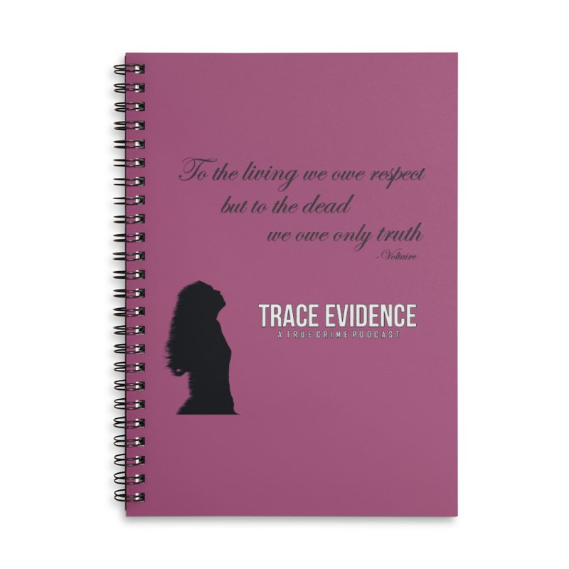 Voltaire Silhouette Accessories Lined Spiral Notebook by Trace Evidence - A True Crime Podcast