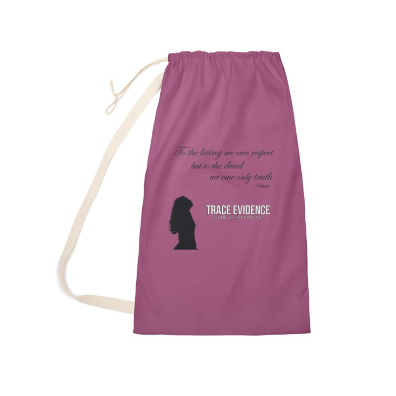 Voltaire Silhouette Accessories Laundry Bag Bag by Trace Evidence - A True Crime Podcast