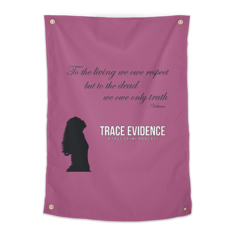 Voltaire Silhouette Home Tapestry by Trace Evidence - A True Crime Podcast