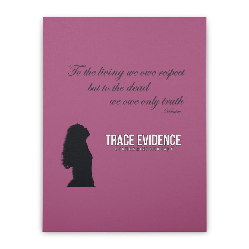 Voltaire Silhouette Home Stretched Canvas by Trace Evidence - A True Crime Podcast