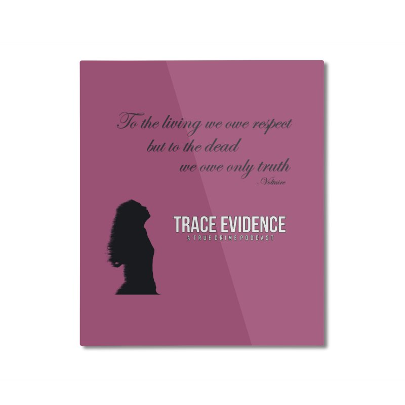 Voltaire Silhouette Home Mounted Aluminum Print by Trace Evidence - A True Crime Podcast