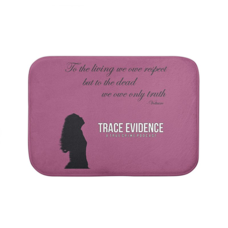 Voltaire Silhouette Home Bath Mat by Trace Evidence - A True Crime Podcast