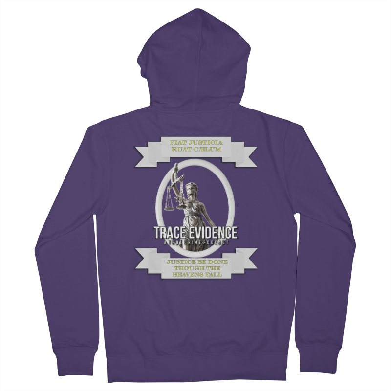 Justice Women's French Terry Zip-Up Hoody by Trace Evidence - A True Crime Podcast