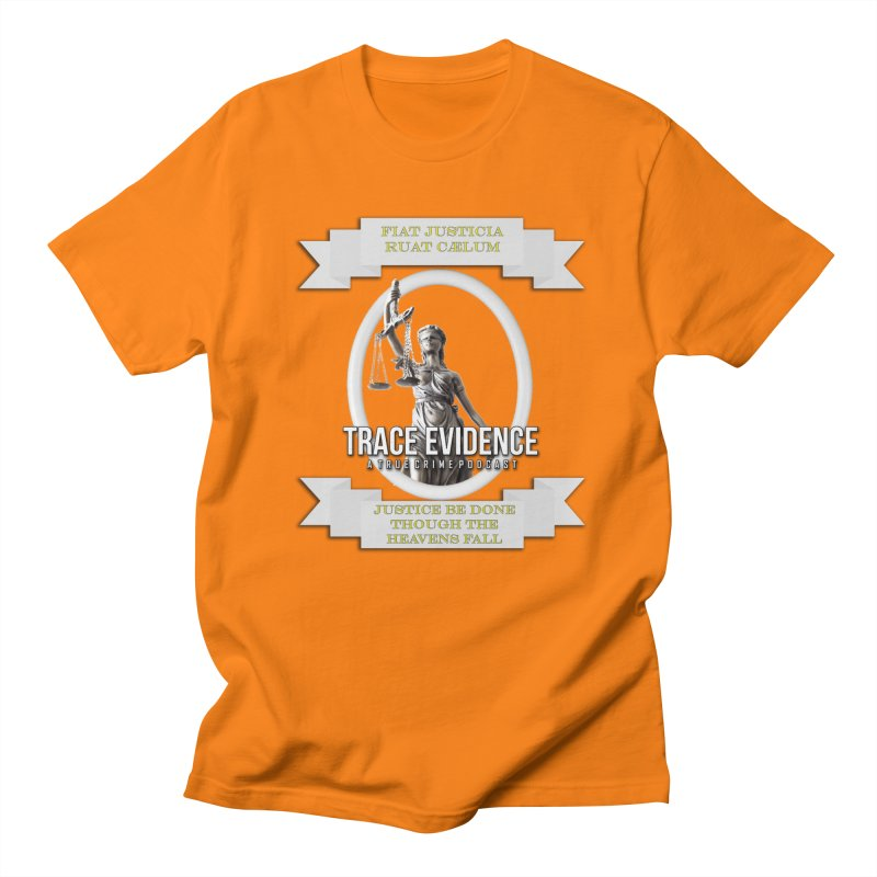 Justice Men's Regular T-Shirt by Trace Evidence - A True Crime Podcast