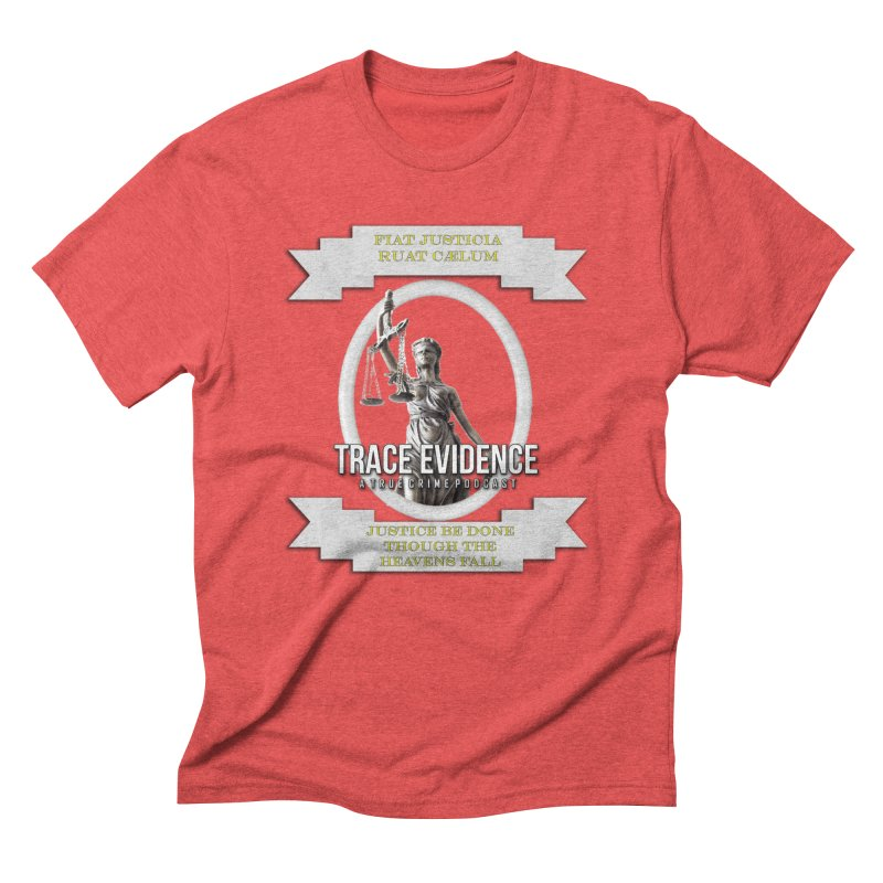 Justice Men's Triblend T-Shirt by Trace Evidence - A True Crime Podcast