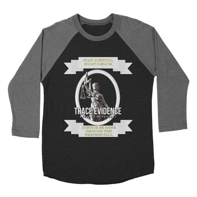 Justice Women's Baseball Triblend Longsleeve T-Shirt by Trace Evidence - A True Crime Podcast