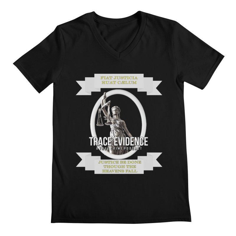 Justice Men's Regular V-Neck by Trace Evidence - A True Crime Podcast
