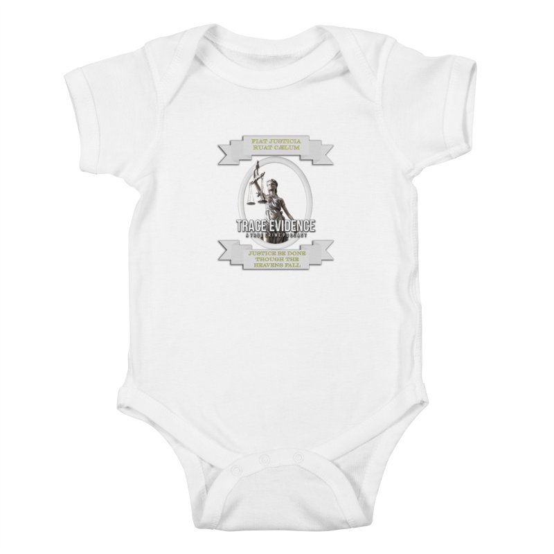 Justice Kids Baby Bodysuit by Trace Evidence - A True Crime Podcast