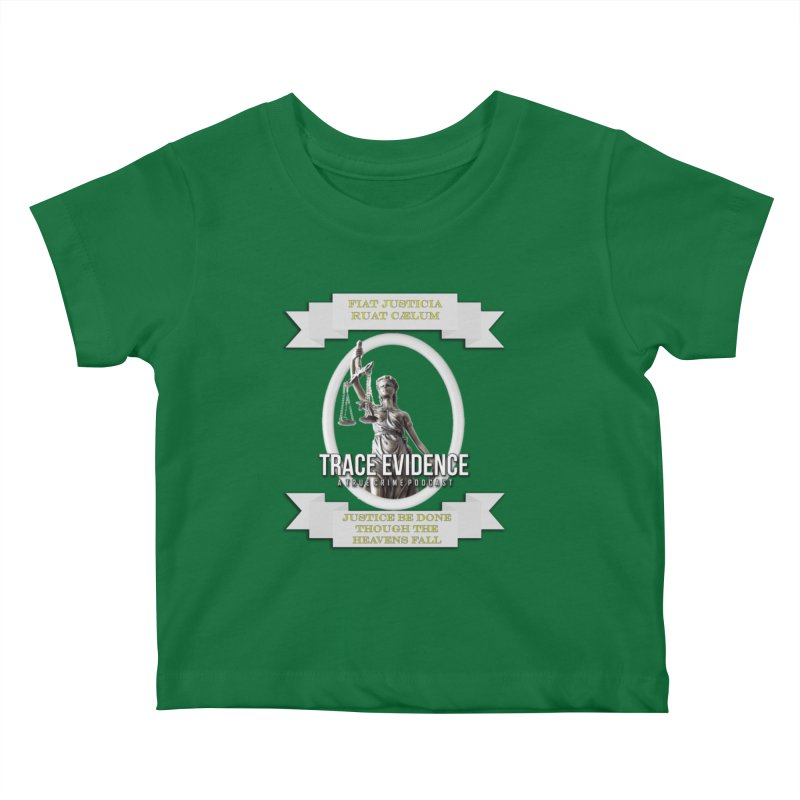 Justice Kids Baby T-Shirt by Trace Evidence - A True Crime Podcast
