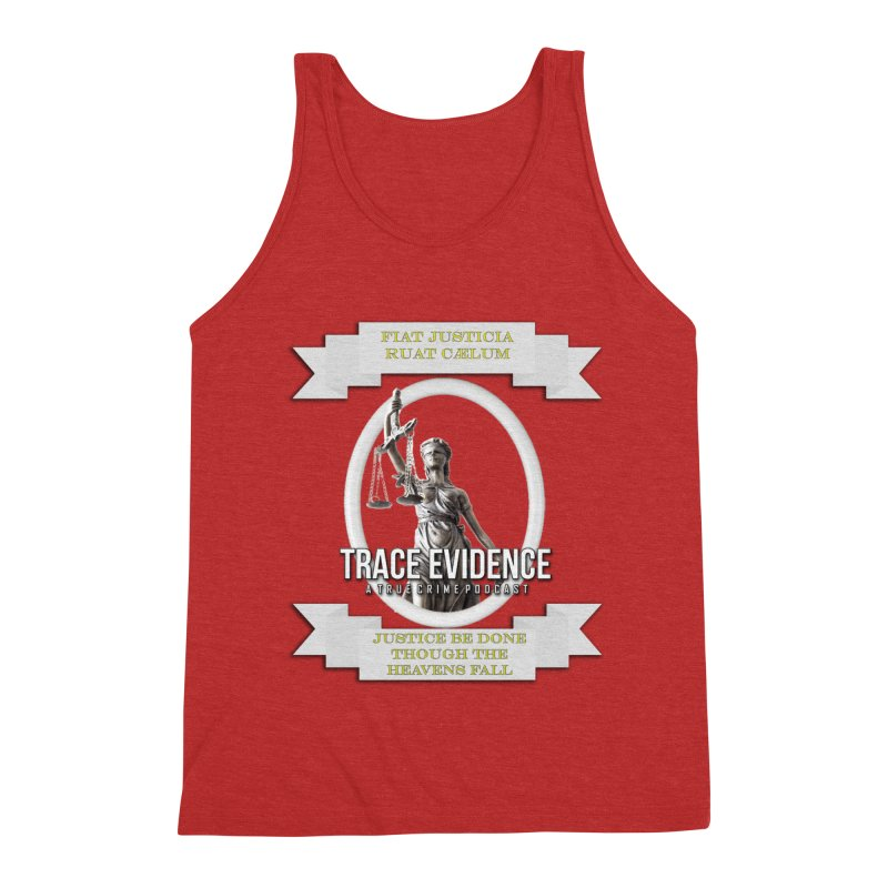 Justice Men's Triblend Tank by Trace Evidence - A True Crime Podcast