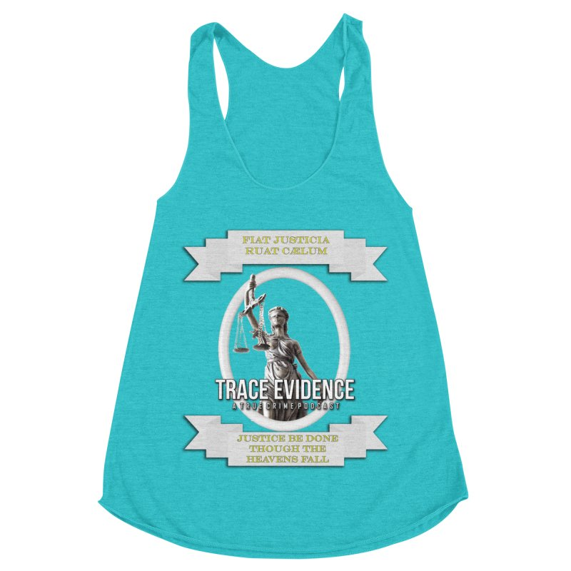 Justice Women's Racerback Triblend Tank by Trace Evidence - A True Crime Podcast