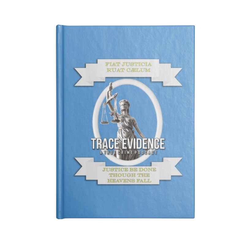 Justice Accessories Lined Journal Notebook by Trace Evidence - A True Crime Podcast