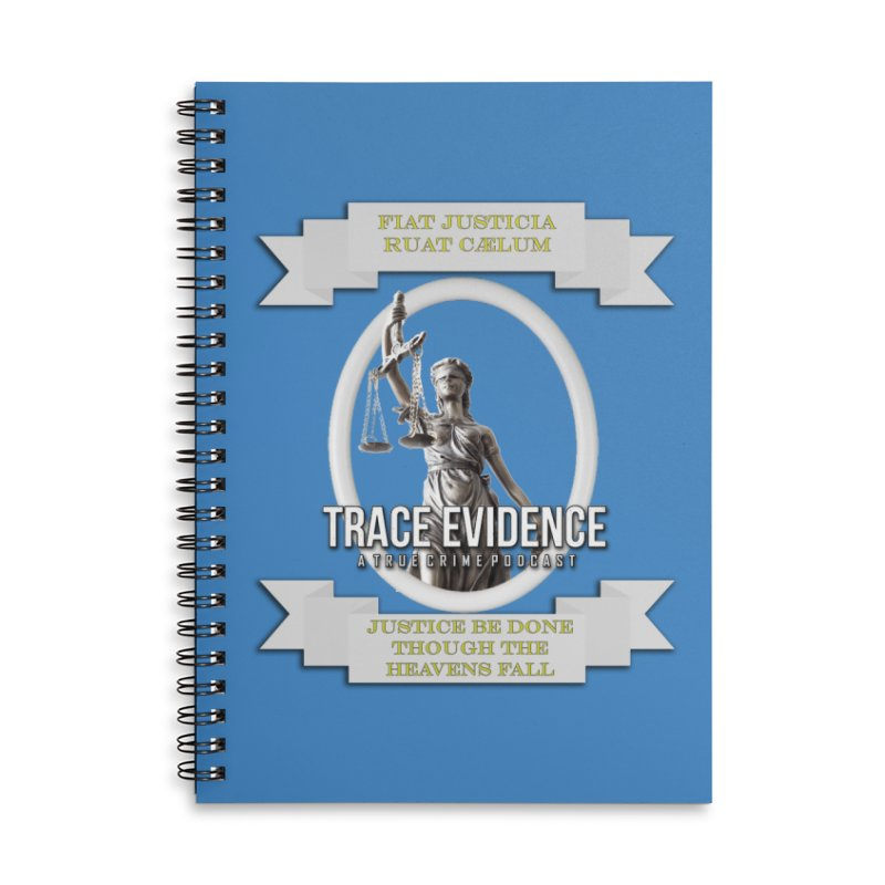 Justice Accessories Lined Spiral Notebook by Trace Evidence - A True Crime Podcast