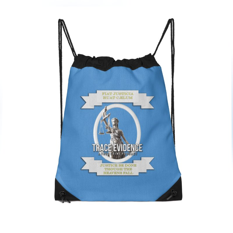 Justice Accessories Drawstring Bag Bag by Trace Evidence - A True Crime Podcast