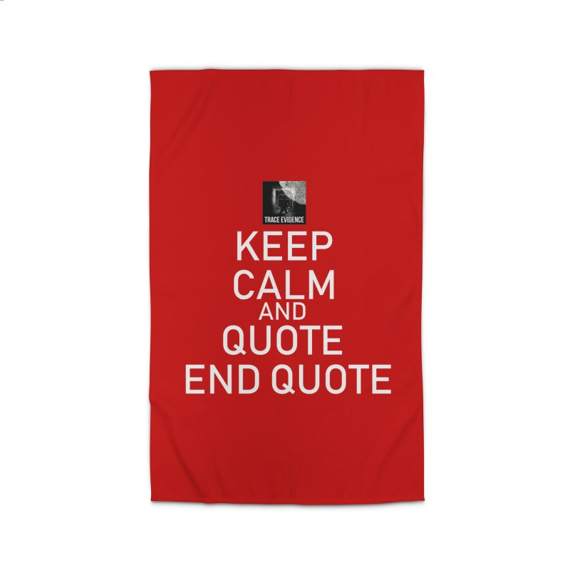Keep Calm Home Rug by Trace Evidence - A True Crime Podcast