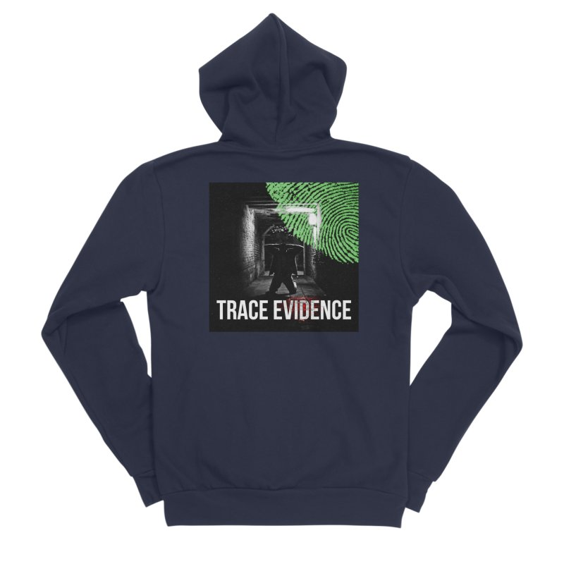 Colorized Men's Sponge Fleece Zip-Up Hoody by Trace Evidence - A True Crime Podcast
