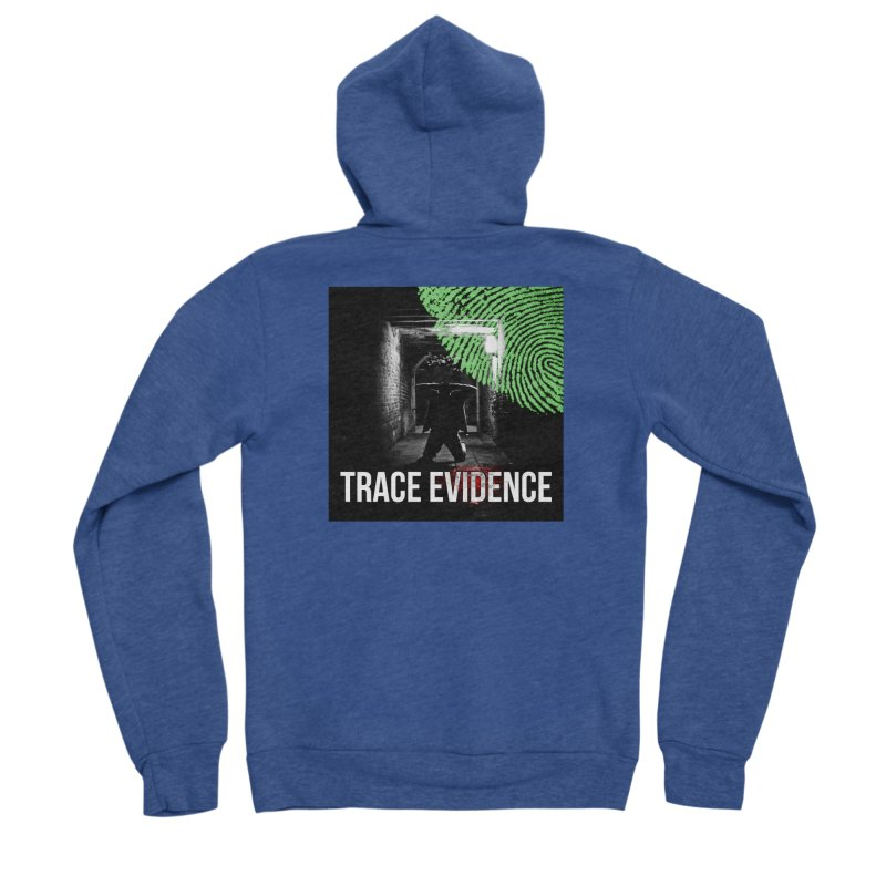 Colorized Men's Sponge Fleece Zip-Up Hoody by Trace Evidence - A True Crime Podcast