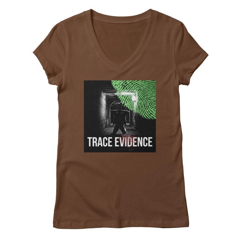 Colorized Women's Regular V-Neck by Trace Evidence - A True Crime Podcast