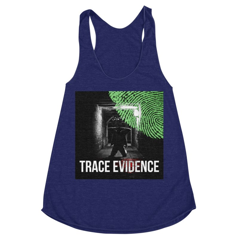 Colorized Women's Racerback Triblend Tank by Trace Evidence - A True Crime Podcast