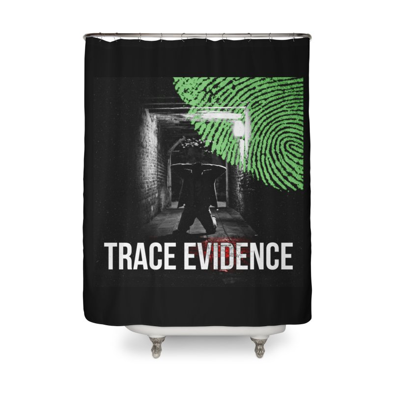 Colorized Home Shower Curtain by Trace Evidence - A True Crime Podcast