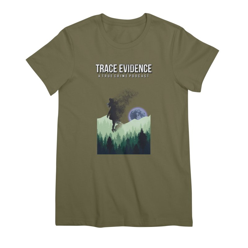 Vanishing Women's Premium T-Shirt by Trace Evidence - A True Crime Podcast