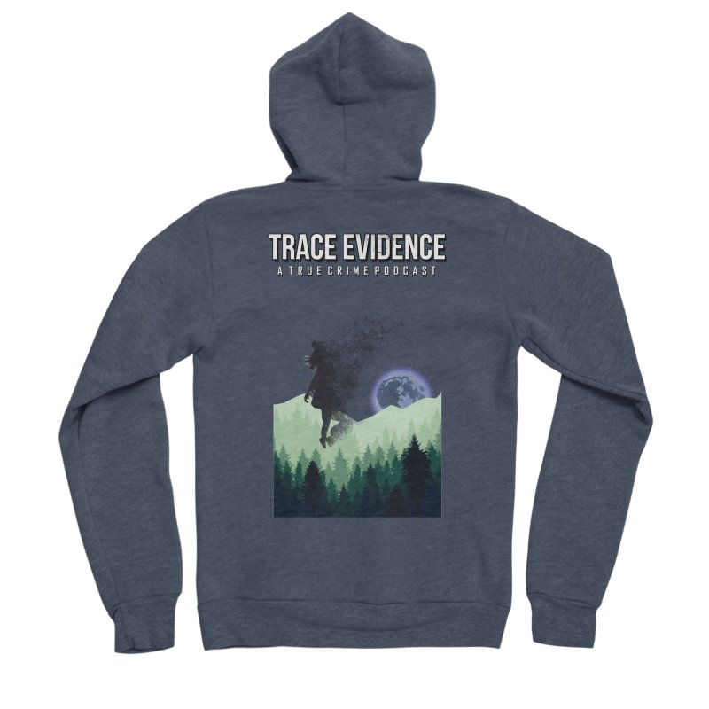 Vanishing Men's Sponge Fleece Zip-Up Hoody by Trace Evidence - A True Crime Podcast