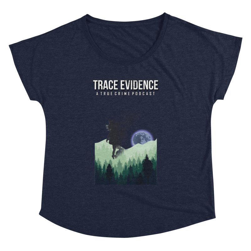 Vanishing Women's Dolman Scoop Neck by Trace Evidence - A True Crime Podcast