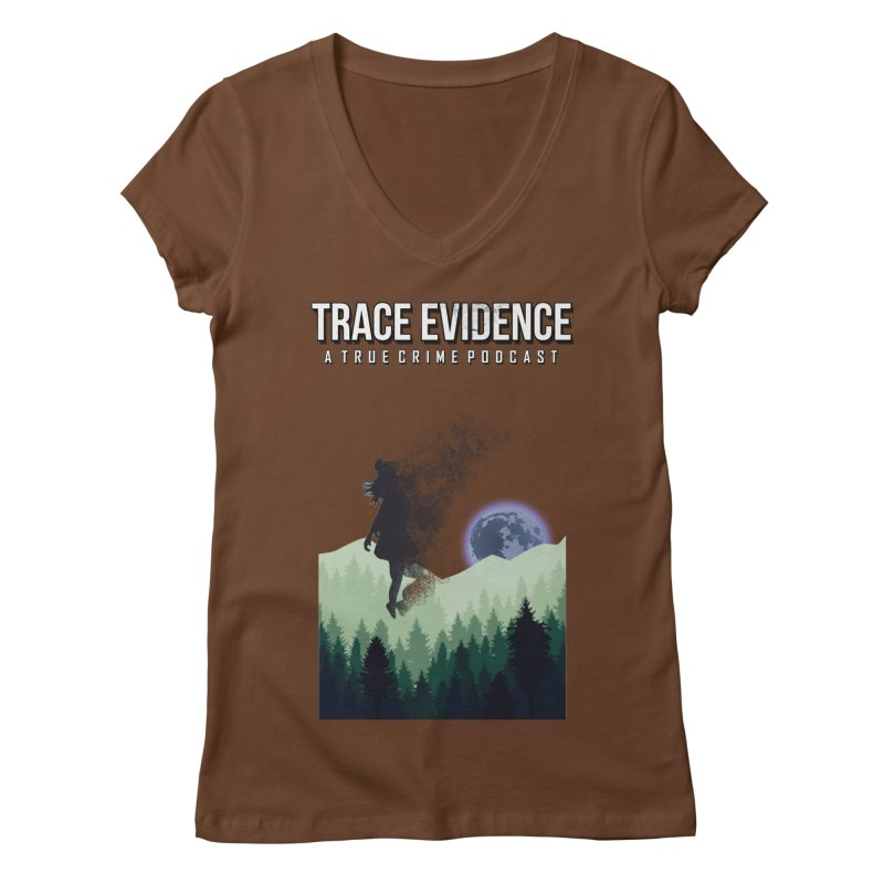 Vanishing Women's Regular V-Neck by Trace Evidence - A True Crime Podcast