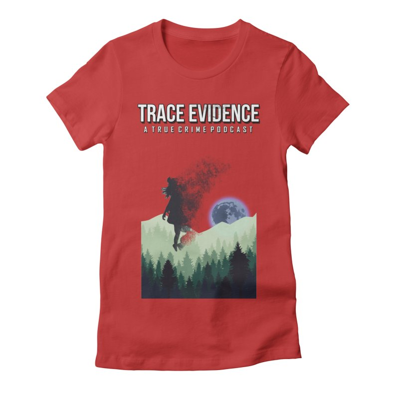 Vanishing Women's Fitted T-Shirt by Trace Evidence - A True Crime Podcast