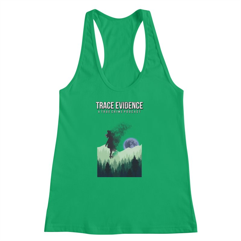 Vanishing Women's Racerback Tank by Trace Evidence - A True Crime Podcast