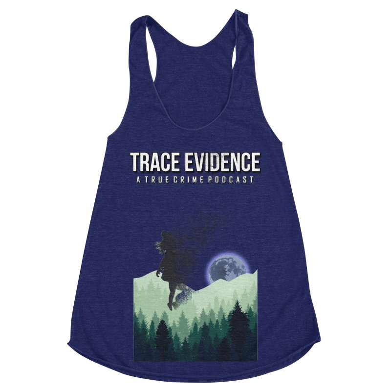 Vanishing Women's Racerback Triblend Tank by Trace Evidence - A True Crime Podcast