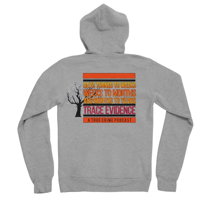 Days to Weeks Men's Sponge Fleece Zip-Up Hoody by Trace Evidence - A True Crime Podcast