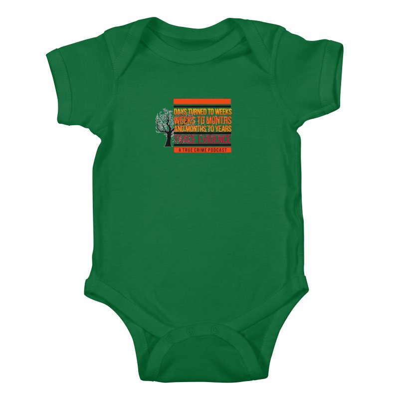 Days to Weeks Kids Baby Bodysuit by Trace Evidence - A True Crime Podcast