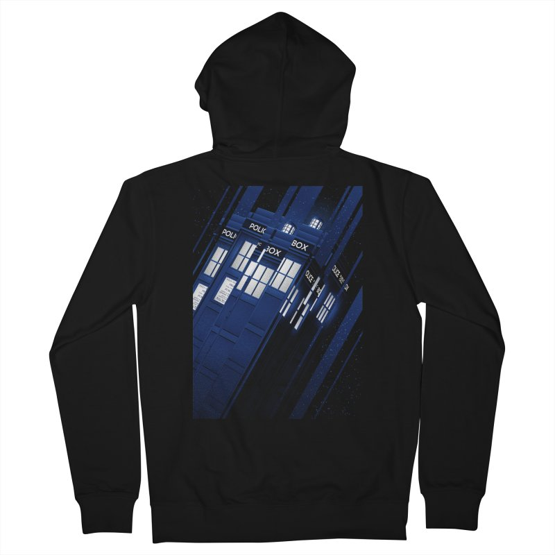 The Police Box Men's Zip-Up Hoody by tracieching's Artist Shop