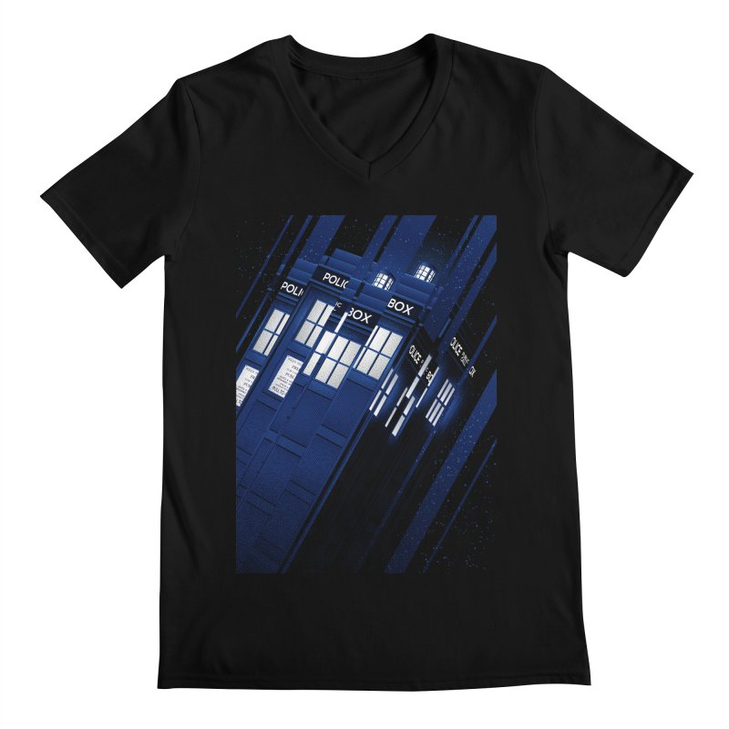 The Police Box Men's V-Neck by tracieching's Artist Shop