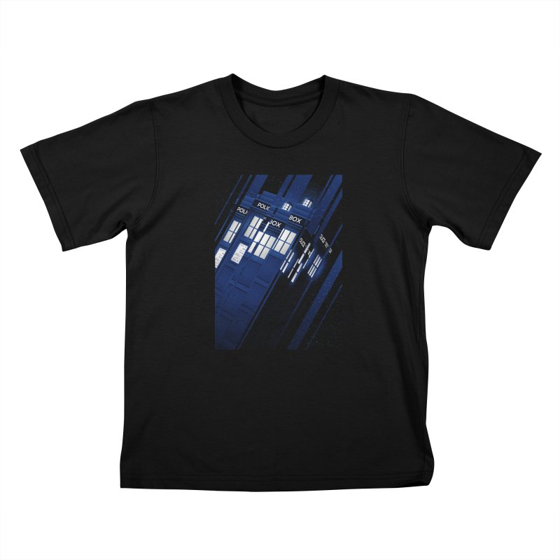 The Police Box Kids T-Shirt by Tracie Ching