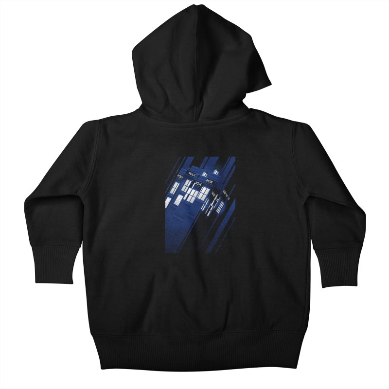 The Police Box Kids Baby Zip-Up Hoody by tracieching's Artist Shop