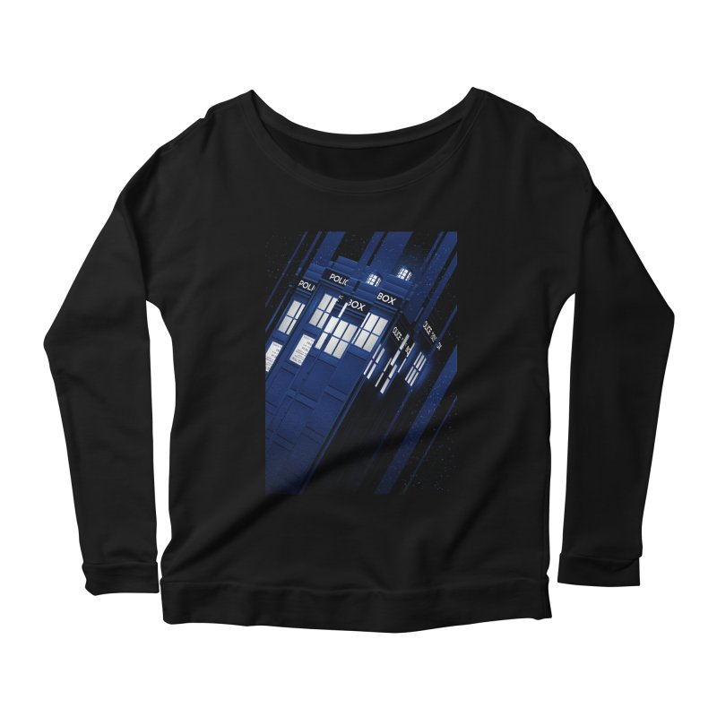 The Police Box Women's Longsleeve Scoopneck  by tracieching's Artist Shop