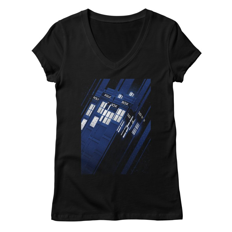 The Police Box Women's V-Neck by tracieching's Artist Shop