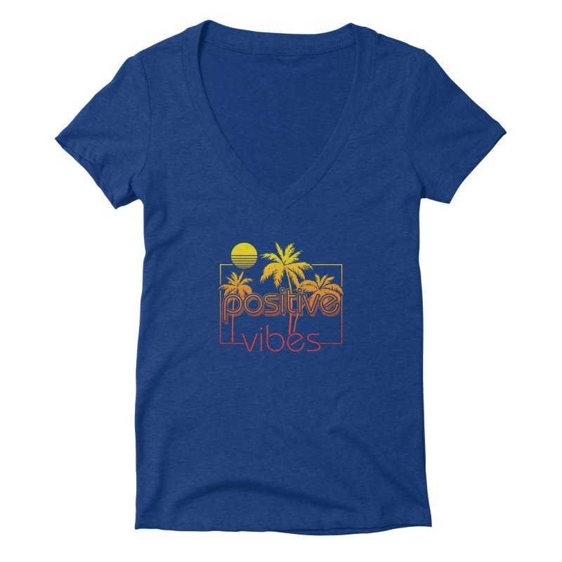 Tropikal Vibes 2 Women's V-Neck by Official Track Junkee Merchandise