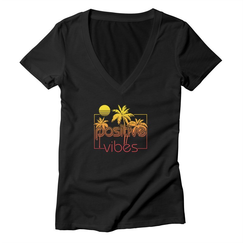 Tropikal Vibes 2 Women's V-Neck by Official Track Junkee Merchandise