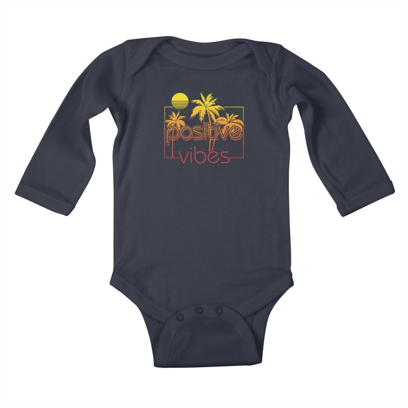 Tropikal Vibes 2 Kids Baby Longsleeve Bodysuit by Official Track Junkee Merchandise