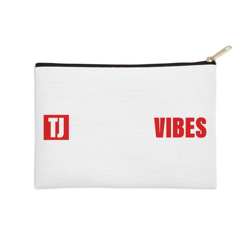 TJ Positive Vibes BOLD (Lite) Accessories Zip Pouch by Official Track Junkee Merchandise