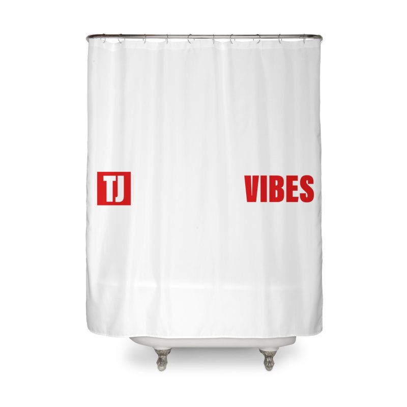 TJ Positive Vibes BOLD (Lite) Home Shower Curtain by Official Track Junkee Merchandise