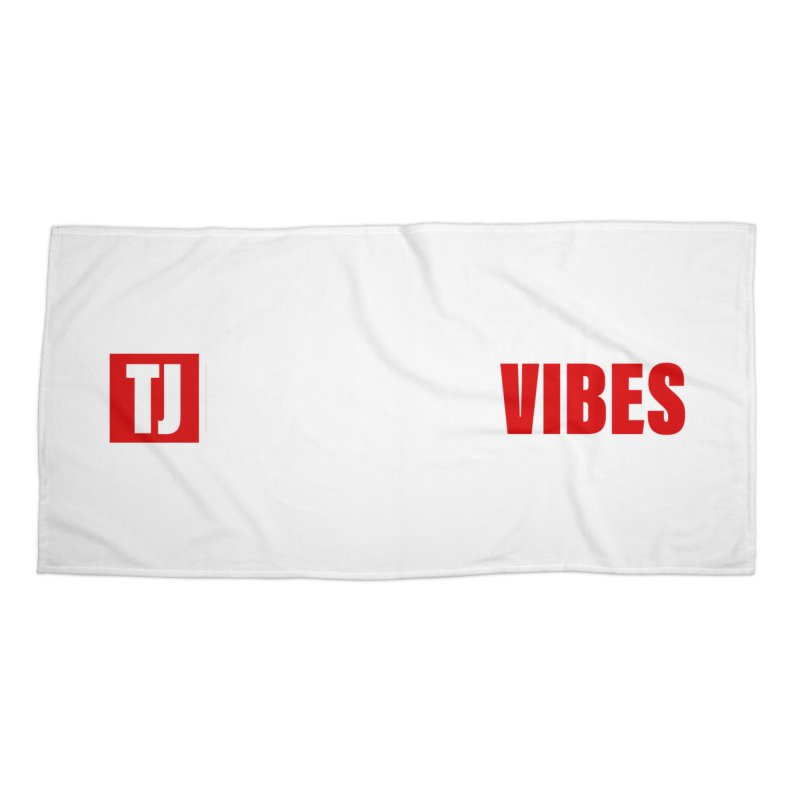 TJ Positive Vibes BOLD (Lite) Accessories Beach Towel by Official Track Junkee Merchandise