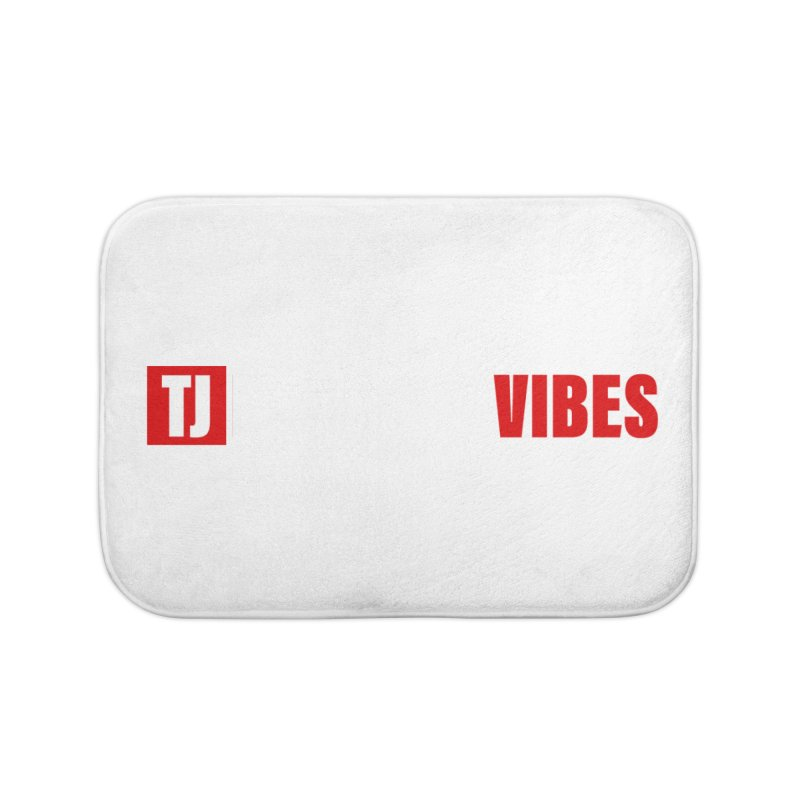 TJ Positive Vibes BOLD (Lite) Home Bath Mat by Official Track Junkee Merchandise