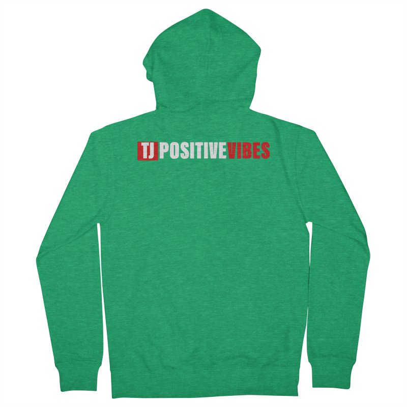 TJ Positive Vibes BOLD (Lite) Men's Zip-Up Hoody by Official Track Junkee Merchandise