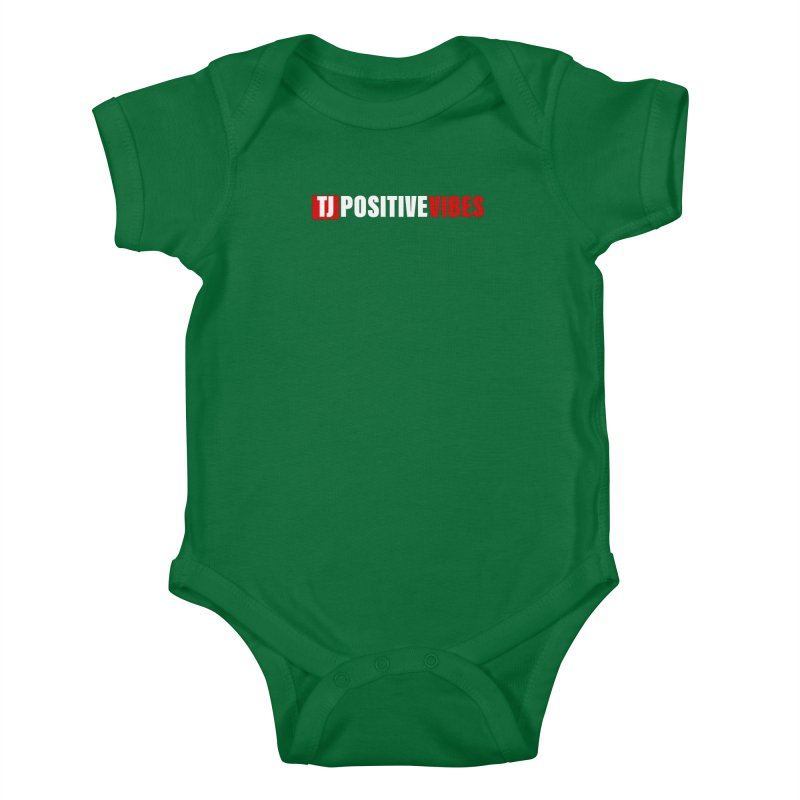 TJ Positive Vibes BOLD (Lite) Kids Baby Bodysuit by Official Track Junkee Merchandise