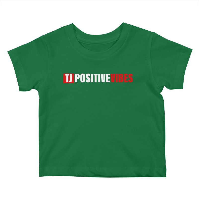 TJ Positive Vibes BOLD (Lite) Kids Baby T-Shirt by Official Track Junkee Merchandise